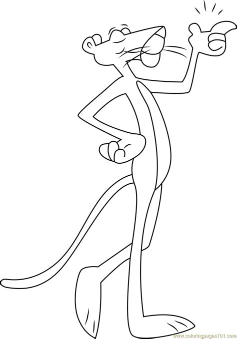 pink panther coloring pages pink panther walking coloring page free the pink panther
