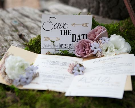 Nature Themed Wedding Invitations by Rustic Wedding Invitations With Whimsical Details