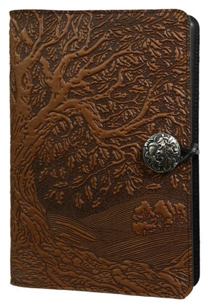 design journal cover leather journal cover diary tree of life oberon design
