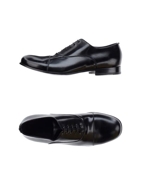 armani shoes for emporio armani lace up shoes in black for lyst