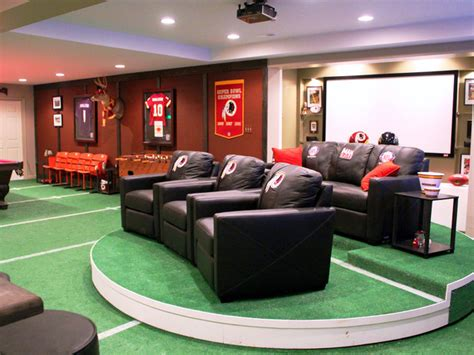ultimate man cave the ultimate man cave build a nfl themed sports bar in