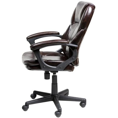 brown faux leather office chair manager office chair in brown puresoft faux leather 43669