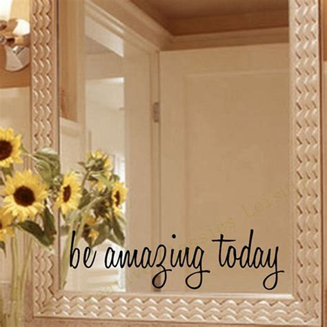 bathroom mirror decals aliexpress com buy free shipping inspirational mirror