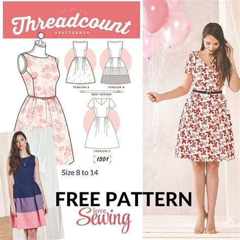 sewing pattern to download free download threadcount 3 in 1 dress pattern sewing
