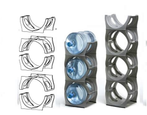 flexibility modular water bottle rack