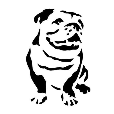 simple black ink bulldog silhouette tattoo design