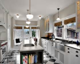 Galley Kitchen With Island Layout by Galley Kitchen Island Design Kitchens