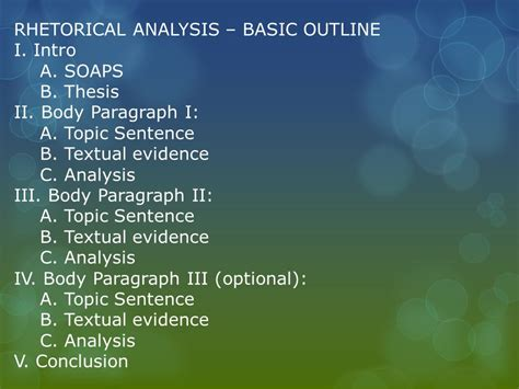 rhetorical analysis outline template ap rhetorical analysis essay outline rhetorical analysis