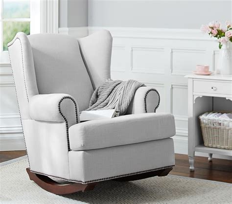 Pottery Barn Kids Rocking Chair Wingback Nailhead Rocker Pottery Barn Kids