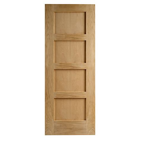 Travis Perkins Sleepers by Wickes Marlow Oak Veneer Door 4 Panel 1981x762mm
