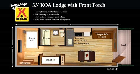 Most Popular Floor Plans koa cabins perfect for first time and fearful campers