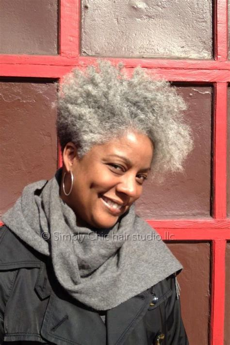 short afro gray styles natural lovely grey tapered cut hairstyle for black women