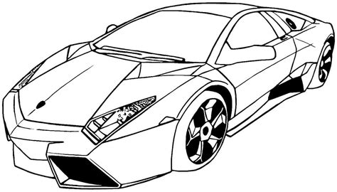 sports car drawing sports car tuning 15 transportation printable