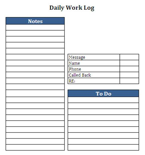 daily work log template optimus 5 search image daily work log
