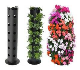 flower tower freestanding vertical planter the green