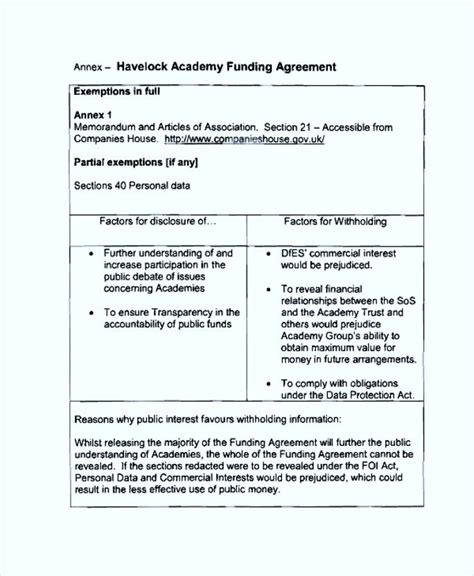 common funding agreement template sle templates