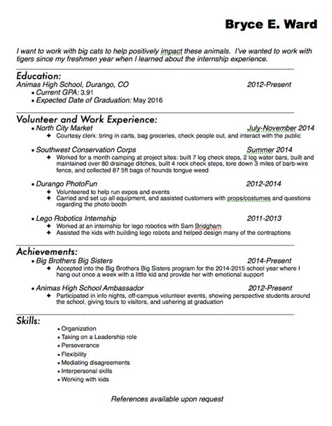 Ceramic Engineer Cover Letter by Biology Internship Resume Sle High School Student Cover Letter Ceramic Engineer Entry Level