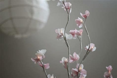 lighted cherry blossom branch centerpiece