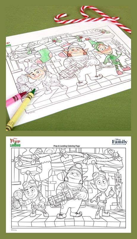 Prep And Landing Coloring Pages 17 best images about disney s prep landing on