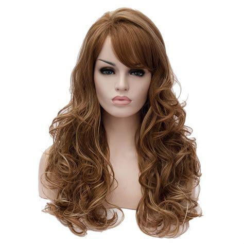 Wig Wavy new curly wavy brown mixed fancy hair wig ebay