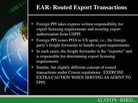 supplement 1 to part 774 of the ear ppt export compliance for freight forwarders powerpoint