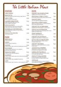 italian menu template free italian menu template 006