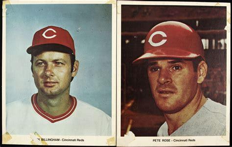 johnny bench pete rose lot detail 1970s 90s cincinnati reds team player photo w vintage johnny bench pete