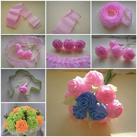 How To Make Handcrafted Flowers - diy crepe paper flowers pictures photos and images for
