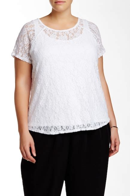Blouse Atasan Flowery Jumbo Cantik vince camuto flowery lace blouse plus size nordstrom