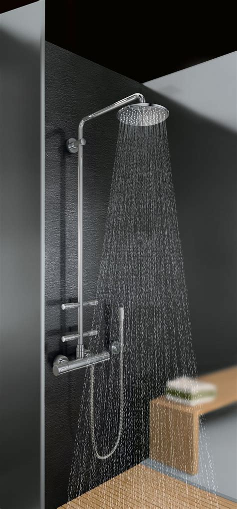 doccia grohe doccia soffione e doccetta con asta saliscendi cose di casa
