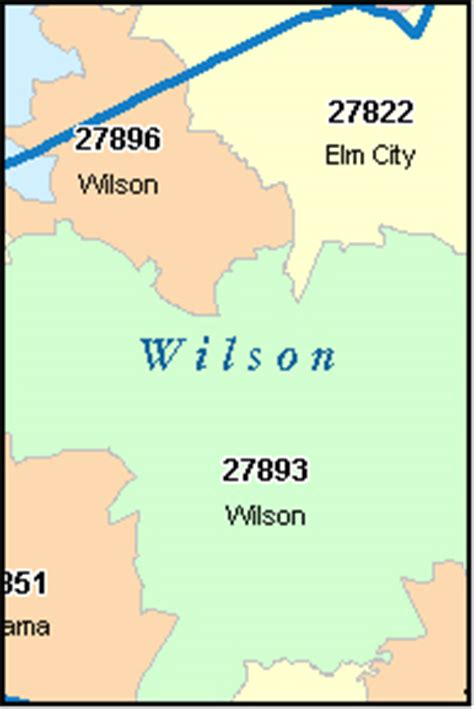wilson carolina map wilson county carolina digital zip code map
