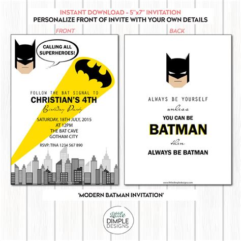 batman invitation template batman invitation template dimple designs