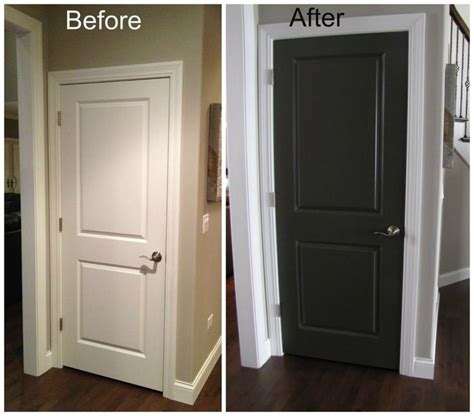 Interior Door Paint Ideas Black Interior Doors Before And After Door Before And After For The Home Pinterest This