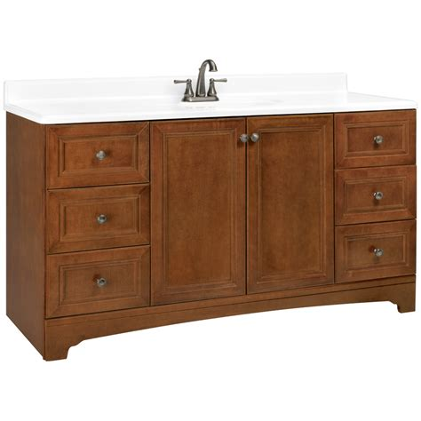 60 Bath Vanity by Shop Estate By Rsi Wheaton Chestnut Traditional Bathroom