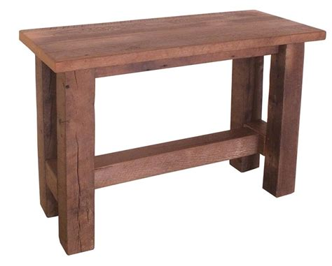 Grove Reclaimed Barn Wood Sofa Table Barn Wood Sofa Table