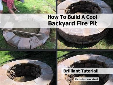 how to build a cool backyard fire pit