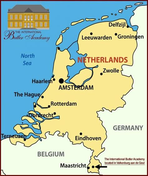 map netherlands belgium germany the international butler academy the netherlands