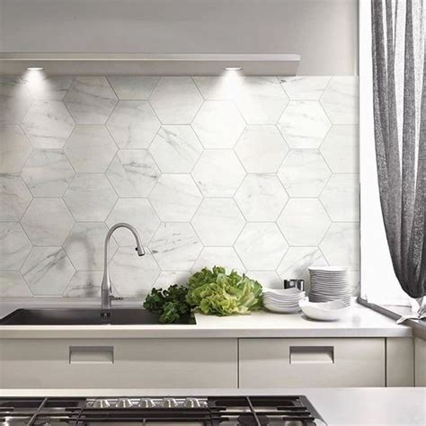 wall tiles for kitchen backsplash 36 eye catchy hexagon tile ideas for kitchens digsdigs