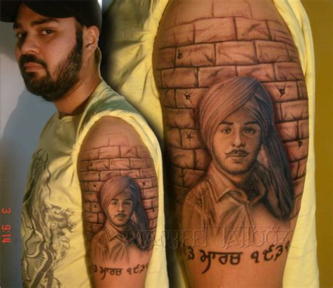 bhagat singh tattoo best tattoo shop in delhi manjeet