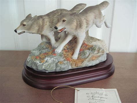 home interior masterpiece figurines home interiors gray wolves running endangered species