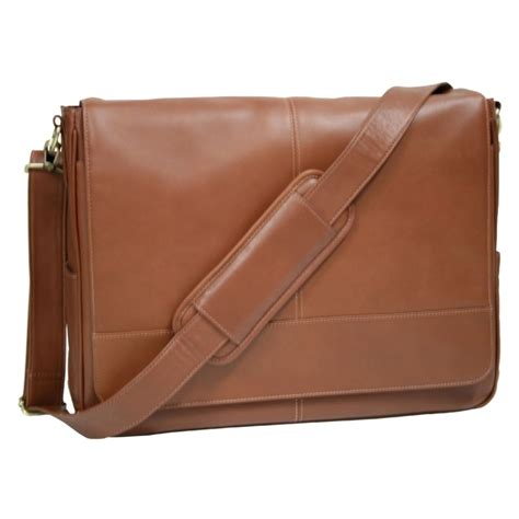 royce leather deluxe laptop messenger bag