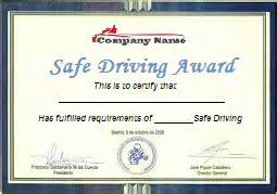 safe driving certificate template safe driving certificates awards pictures to pin on