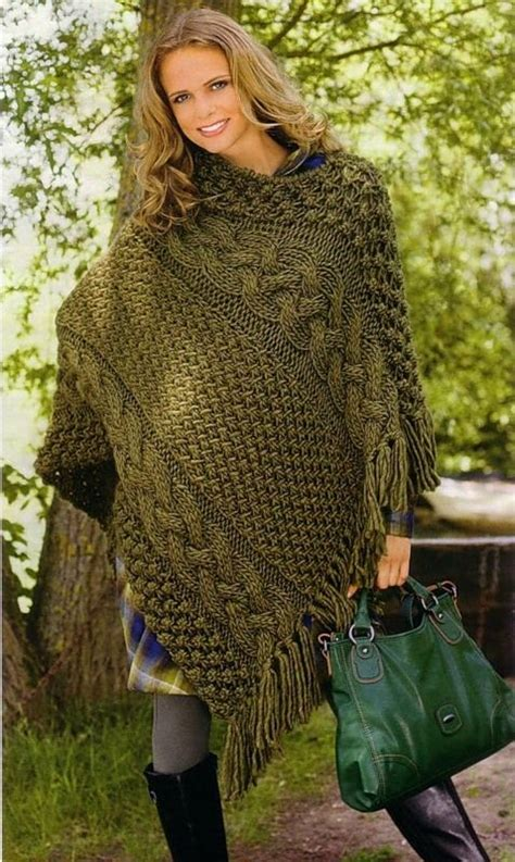 knitting patterns womens poncho poncho design with cone cowl neck shape designers