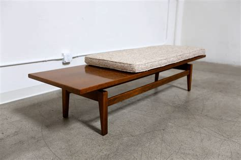 jens risom bench walnut bench by jens risom at 1stdibs