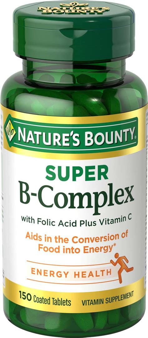 Suplemen Vitamin B Kompleks nature s bounty b complex with folic acid plus