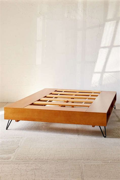 charming mid century modern bed  urban outfitters