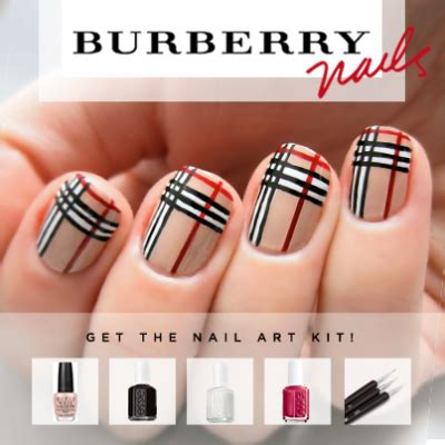burberry pattern nails check out this beautiful burberry inspired nail art kit