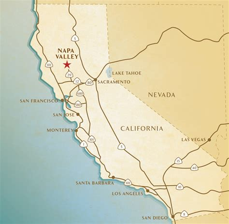 map of california valley maps