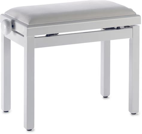 stagg piano bench stagg pb39 piano bench highgloss white white velvet top