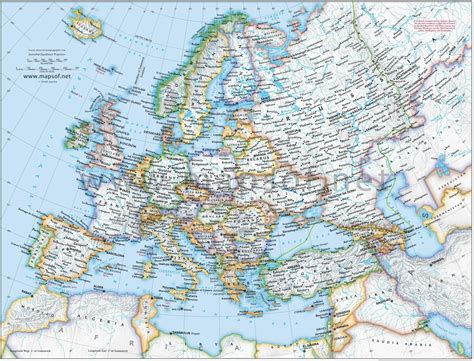 road map of europe maps update 1412997 detailed travel map of europe